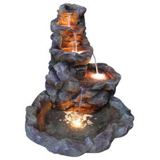 Rustic Outdoor Fountains And Ponds by Serenity Health & Home Decor