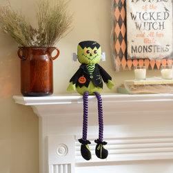 Friendly Frankenstein Shelf Sitter - Shelf sitter measures 7L x 3W x 21H in.