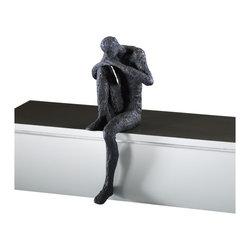 Cyan Design - Cyan Design Thinking Man Shelf Decor Sculpture in Old World - Thinking Man Shelf Decor Sculpture in Old World