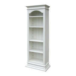 Tradewinds - Hand Painted Cottage Display Column, White - This cottage display column makes a perfect furnishing piece for placing collectables on display. It comes with adjustable shelves and also accommodates B-100 storage baskets. A variety of finish options are available in this hand painted furniture item to match with the d��_cor in your home.��_