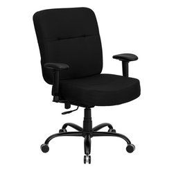 Flash Furniture - Flash Furniture Hercules Series 400 lb. Capacity Big & Tall Office Chair - This chair has been tested to hold up to 400 lbs.! Not only will this chair hold the above average person, but it is amazingly comfortable. Chair will appeal for users of all heights and weights because of its comfort and sturdy construction. Chair has several adjustable functionalities so users can achieve their custom fit. Height adjustable arms are an added bonus to add to the appeal of this chair.