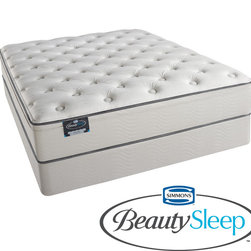 Simmons Beautyrest - Simmons BeautySleep Kenosha Plush Full-size Mattress Set - Get a good night's sleep with this plush full-size mattress set from Simmons BeautySleep. This mattress features multiple foam layers designed to support your body so you can sleep in comfort. The set includes both a mattress and a box spring.