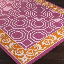 """Surya - Surya Nantes NAN-8007 3'3"""" x 5'3"""" Magenta, Burnt Orange Rug - This Hand Woven area rug would make a great addition to any room in the house. The plush feel and durability of this area rug will make it a must for your home."""