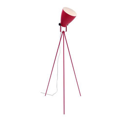 Lumisource - Grammy Reader Floor Lamp in Pink - Tripod legs add stability. Can be used as reading lamp or ambient spotlight. Made from metal. Assembly required. 24 in. Dia. x 52 to 57.5 in. H (4 lbs.)Grammy Reader is a perfect fit anywhere from the living room to a dorm room.