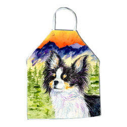 Caroline's Treasures - Chihuahua Apron SS8517APRON - Apron, Bib Style, 27 in H x 31 in W; 100 percent  Ultra Spun Poly, White, braided nylon tie straps, sewn cloth neckband. These bib style aprons are not just for cooking - they are also great for cleaning, gardening, art projects, and other activities, too!