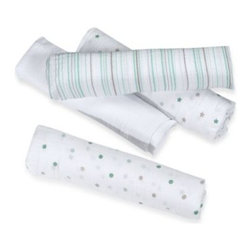 Aden + Anais - aden by aden + anais 4-Pack Muslin Swaddle Blankets in Oh, My - When it comes to swaddling a baby in supreme softness, this cozy muslin wrap is ideal. Crafted from soft, muslin fabric, this wrap provides air flow and ultimate comfort.