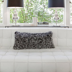 Alexandria Faux-Fur Pillow - Cuddle up after a long day with our soft Alexandria Pillow! Simultaneously zany and classy, this black and white faux-fur pillow adds the perfect amount of eccentricity and eclecticism to your living room furniture. Pair it with a sofa or a love seat to add heaps of character to the room.