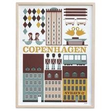 Ferm Living Copenhagen Poster - fawn&forest