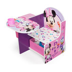 Adarn Inc - Modern Little Girls Adorable Minnie Mouse Kids Chair Desk Storage Bin Cup Holder - This joyful Minnie Mouse Chair Desk is the perfect place for your daughter to sit and get all of her work done. Designed with her favorite Minnie Mouse characters and a new adorable Minnie Mouse design, this chair desk is great for coloring, playing, and reading. Removable storage bin under seat. Great for storing toys, books, and art supplies. The desk also features a cup holder that can be used for beverages and art supplies holders. Some assembly is required. Meets all JPMA safety standards.
