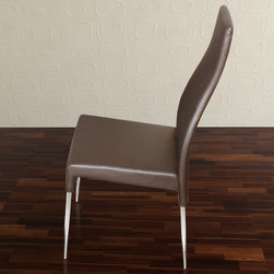 """Casabianca Furniture - Valentino Dining Chair in Brown - Glamorous and comfortable dining chair made with high quality materials.; Leatherette, high density foam and metal; Weight: 15 lbs; Dimensions: 16 1/4""""W x 20""""D x 41 3/4""""H, Seat Height: 18 1/4"""""""