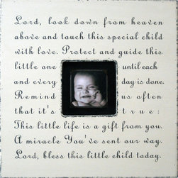 "Sugarboo Designs - Lord Look Down Photo Box by Sugarboo Designs in More Colors - Loving and inspirational messages are beautifully scripted across wood photo box frames. The center opening accommodates a 4"" x 4"" photo. There is a color option for all palates. Alone or in multiples, one of these can be a perfect compliment to a birth, graduation, wedding, relationship or any occasion. Take the time to read each message. You are certain to connect with some of them. Each piece has its own unique character since each photo box is made to order. Distinctive grains, dings, and imperfections are to be expected and are intentional. The black, chocolate, charcoal, and slate finishes all have the cream font, whereas the rest of the boxes come with a dark chocolate font. (SB)"