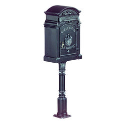 Dahlhaus Column Mailbox and Post - Here is another gorgeous Dahlhaus column mailbox and post package.  It is available in many other finishes, and retails for $2,099 with free shipping at http://www.mailboxixchange.com