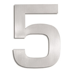 Signo Stainless Steel House Number - 5