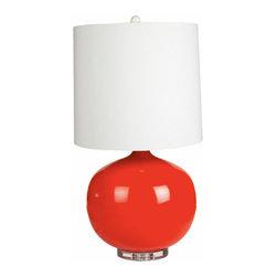 Evert Red Ceramic Lamp - Evert Red Ceramic Lamp