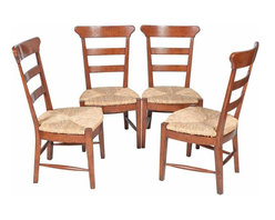 SOLD OUT! Set of Six Ladderback Farmhouse Dining Chairs - $6,720 Est. Retail - $ -