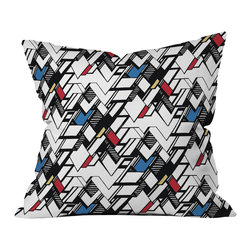 DENY Designs - Karen Harris Taliesin Multi Outdoor Throw Pillow - Do you hear that noise? it's your outdoor area begging for a facelift and what better way to turn up the chic than with our outdoor throw pillow collection? Made from water and mildew proof woven polyester, our indoor/outdoor throw pillow is the perfect way to add some vibrance and character to your boring outdoor furniture while giving the rain a run for its money.