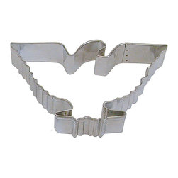 RM - Eagle 4.5 In. B1262X - Eagle cookie cutter, made of sturdy tin, Size 4.5 in., Depth 7/8 in., Color silver