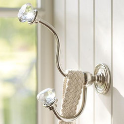 Classic Glass Hardware - Here's a classic that will add just the right amount of sparkle to your room. Class things up with this glass hardware. I love the simple, curved lines and the bling that tops them off. This would go well in many different spaces.