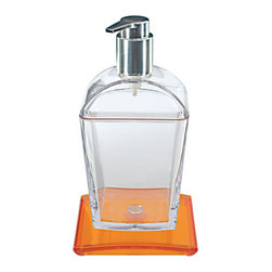 Modo Bath - Tilda 5757A Soap Dispenser in Orange - Tilda 5757A, 3.9 x 3.5 x H 7.1, Bathroom Soap Dispenser in Orange