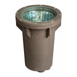 Hinkley - Hinkley One Light Bronze Well Light - 9.5 in. x 12.8 in. - This One Light Well Light is part of the Line Voltage Accent Collection and has a Bronze Finish. It is Outdoor Capable.