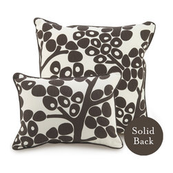 """Oilo - 18"""" x 18"""" Modern Berries Pillow, Brown - Sophisticated berries are the perfect accent for your bed or couch. These ecofriendly pillows are filled with dacron and 100 percent woven cotton. They make a cozy statement in a modern home."""