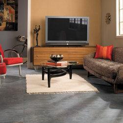 QUADRA Charcoal Grey Tiles Color: UF1019 Quick-Step Laminate Flooring - QUADRA Charcoal Grey Tiles