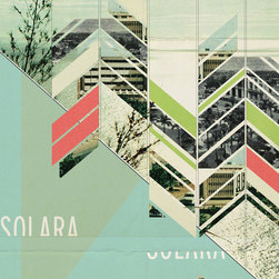 Solara Art Print - This print is stunning to me! I love the minimal, cut-off type and the geometric graphics. This is something that I would hang in my studio for inspiration. I love the color scheme as well.