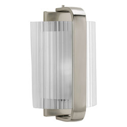 Progress Lighting - Progress Lighting P7051-09Ee One-Light Wall Sconce With Clear Ribbed Glass Bent - One-light wall sconce