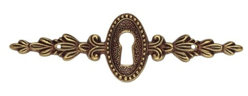 Classic Hardware - French Antique Gold Escutcheon (CH10147954) - French Antique Gold Escutcheon