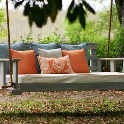 Noah Porch Swing - Swinging beds are a front porch's best friend these days.