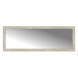 """Posters 2 Prints, LLC - 58"""" x 20"""" Libretto Antique Silver Custom Framed Mirror - 58"""" x 20"""" Custom Framed Mirror made by Posters 2 Prints. Standard glass with unrivaled selection of crafted mirror frames.  Protected with category II safety backing to keep glass fragments together should the mirror be accidentally broken.  Safe arrival guaranteed.  Made in the United States of America"""