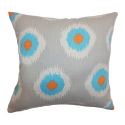 The Pillow Collection - Paegna Ikat Pillow Chili Peppers - - Comes standard at 18 x 18  - Reversible pillow with same fabric on both sides  - Includes a hidden zipper for easy cover removal and cleaning  - Comes standard with a down pillow insert  - All four sides have a clean knife-edge finish  - Pillow insert is 19 x 19 to ensure a tight and generous fit  - Cover and insert made in the USA  - Spot cleaning recommended  - Fill Material: Down  - Pillow cover made of Cotton The Pillow Collection - P18-PP-IKATDOMINO-CHILIPEPPERS