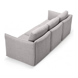 "Harper 102"" Fabric Sofa by Interior Define - PRODUCT DESCRIPTION"