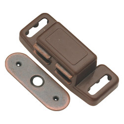 Hickory Hardware - Statuary Bronze Magnetic Catch - Functionalism is the principal that design is based on the purpose of that piece. Hinges, hooks, catches, drawer slides and screws. All designed for a specific purpose and necessary in every home.