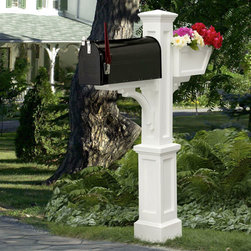 Westbrook Plus Mailbox Post - Perfect for adding a unique look to your home, the Westbrook Plus Mailbox Post features a planter box to display your favorite flowers.