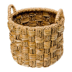 Kouboo - Round Braided Sea grass Basket, Medium - This piece is the combination of versatility and usefulness. You may give it away as the ultimate gift basket or set it up in your home to store the little things that you always want within reach. A storage basket truly for all occasions.