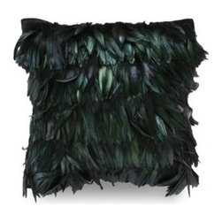 Unique Pillows: Bring Warmth and Beauty to Your Bedroom - This pillow is an exclusive piece from the Urban Jungle Collection of Dransfield & Ross. This feathery glittering black throw pillow is a perfect item to complement a fancy décor scheme.