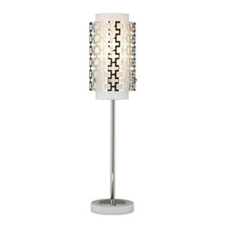 Robert Abbey - Robert Abbey Jonathan Adler Parker Buffet Table Lamp S669 - Polished Nickel Finish