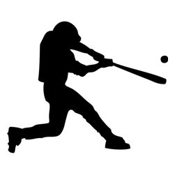 Dana Decals - Swinging Baseball Player Wall Decal - Ideal for homes, kids rooms, and schools.