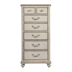 Stanley - Arrondissement Belle Mode Lingerie Chest - A delicate design meant to house your delicates, the Belle Mode Lingerie Chest enchants with its Vintage Neutral finish. Seven drawers provide storage options, while the genuine brass knobs and pulls lend a jewel-like adornment to the chest.