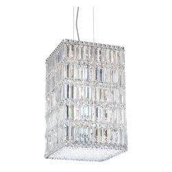Schonbek Lighting - Schonbek Lighting 2288A Quantum Silver Pendant - 21 Bulbs, Bulb Type: 40 Watt Halogen, Bulbs Included