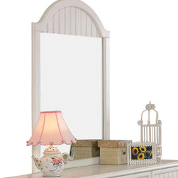 Hillsdale Furniture - Hillsdale Westfield Mirror - Inspired by classic Cottage styling, the Westfield youth bedroom collection features a traditional curved headboard, bead board details and lovely sculpted feet. Finished in a perfectly charming white, and complete with a dresser, mirror, nightstand, chest and matching desk, this collection is a refreshing and cheerful addition to your child's room.