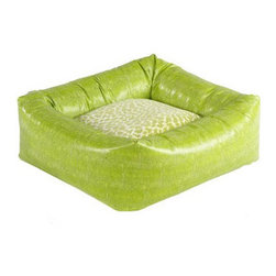 Dutchie Dog Bed in Lime Lizard - If your taste is a little more fun loving, this pet bed comes in a wonderful lime green and has a cool animal print pillow bottom.
