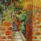 """""""Welcome"""" (Original) By Chris Brandley - This Italian Villa Has Opened It'S Gate And Is Ready To Welcome You!"""
