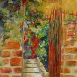 Welcome (Original) by Chris Brandley - This Italian Villa has opened it's gate and is ready to welcome you!