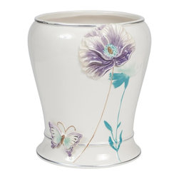 Creative Bath - Garden Gate Waste Basket Multicolor - GGT54LIL - Shop for Wastebaskets from Hayneedle.com! The Garden Gate Waste Basket is a nominal achievement in elegance matching utility with a beautiful flower-and-butterfly print.About Creative BathFor over 30 years Creative Bath has developed innovative stylish bathroom decor items. They have grown exponentially and now you can find their products in major retail and online stores around the world. From shower curtains to soap dishes and everything in between Creative Bath brings you high quality items to enhance your lifestyle.