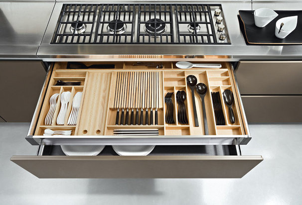 Contemporary Kitchen Drawer Organizers by ITALIAN KITCHEN CABINETS IN SAN DIEGO