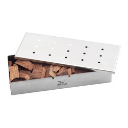 Zen Urban - Stainless Steel Wood Chip Smoker Box for Charcoal or Gas Grill - -Smoker box turns any gas or electric grill into a wood smoker