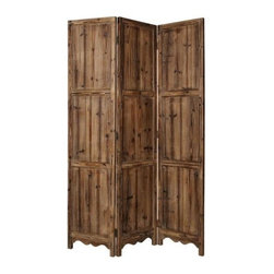Screen Gems - Winchester Privacy Screen - 3 Panels - 3 panel solid wood screen. Finished on both sides. Rubbed, rustic and weathered finish. 63 in. L x 72 in. H (30 lbs.)