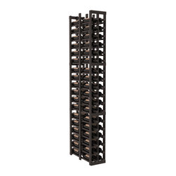 """Wine Racks America - 2 Column Double Deep Cellar in Redwood, Black + Satin Finish - Double the convenience of the 1 column version. Fit 6 cases of wine on less than 10"""" of wall space! This wooden wine rack is perfect for creating maximum storage capacity from every little nook and cranny without more wall space. This rack is built to last. Guaranteed."""